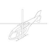 Icono isométrico del helicóptero Stock de ilustración