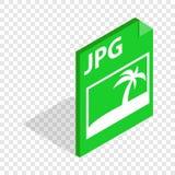 Icono isométrico del JPG del fichero Fotografía de archivo