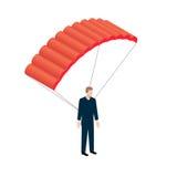 Icono isométrico del paracaidista Stock de ilustración