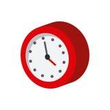 Icono isométrico del reloj ilustración del vector