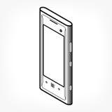 Icono isométrico del teléfono Imágenes de archivo libres de regalías