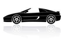 Icono italiano del vector de la silueta del coche de deportes Foto de archivo libre de regalías