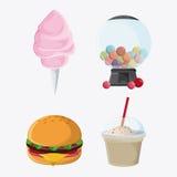 Icono justo del carnaval del bocado de la comida libre illustration