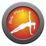 Icono lateral del rojo de la actitud del tablón de la yoga Fotografía de archivo