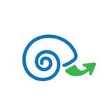 Icono lento del crecimiento con el caracol Shell libre illustration