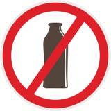 Icono libre de la lechería plano stock de ilustración
