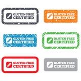 Icono libre de la muestra del gluten. Ningún símbolo del gluten. Imagen de archivo libre de regalías