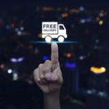 Icono libre del camión de reparto del presionado a mano imágenes de archivo libres de regalías