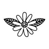 Icono lindo de la naturaleza de la flor Fotos de archivo