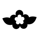 Icono lindo de la naturaleza de la flor Fotografía de archivo libre de regalías