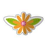 Icono lindo de la naturaleza de la flor Foto de archivo libre de regalías