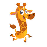 Icono lindo del carácter de la jirafa de la historieta Vector la enfermedad fotos de archivo libres de regalías