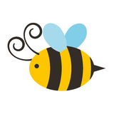 Icono lindo del vuelo de la abeja libre illustration