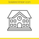 Icono linear de la construcción de escuelas Foto de archivo