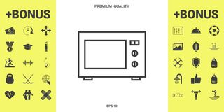 Icono linear del horno de microondas libre illustration