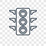 Icono linear del semáforo del vector grande del concepto aislado en transpa stock de ilustración