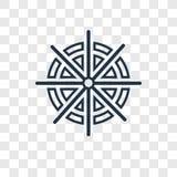 Icono linear del vector del concepto de Dharma aislado en backgr transparente stock de ilustración