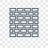 Icono linear del vector del concepto de Kotel aislado en backgro transparente ilustración del vector