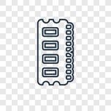 Icono linear del vector del concepto de Ram Memory en vagos transparentes libre illustration