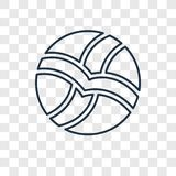 Icono linear del vector del concepto del voleibol aislado en vagos transparentes ilustración del vector