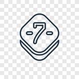 Icono linear del vector de siete conceptos aislado en backgro transparente ilustración del vector