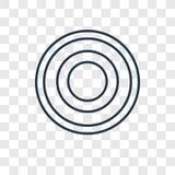 Icono linear del vector espiral del concepto aislado en backgr transparente ilustración del vector