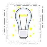 Icono linear moderno de la bombilla Iniciado o idea del negocio Imagenes de archivo