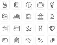 Icono llano fijado: Asunto Imagen de archivo libre de regalías