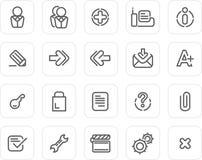 Icono llano fijado: Web site e Internet 2 Imágenes de archivo libres de regalías