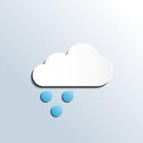 Icono lluvioso de la previsión metereológica Imagenes de archivo