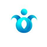 Icono Logo Blue Water de la gente Fotos de archivo