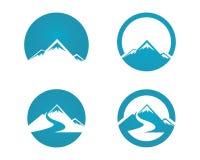 Icono Logo Business Template de la montaña Fotos de archivo