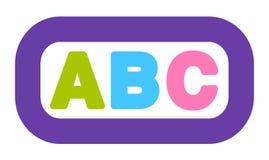 Icono Logo Colorful Alphabet Pictogram de ABC ilustración del vector