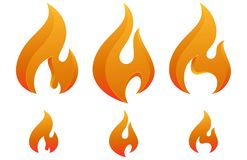 Icono Logo Concept de la quemadura de la llama del fuego Imagen de archivo libre de regalías