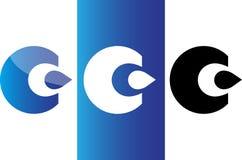 Icono/logotipo del agua del descenso Fotografía de archivo libre de regalías