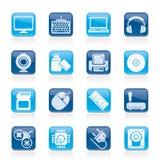 Icono los periférico y de los accesorios de ordenador