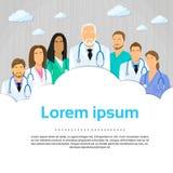 Icono médico de Team Doctor Group Flat Profile Fotografía de archivo