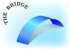 Icono mínimo del puente, concepto de la conexión, Imagenes de archivo