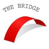 Icono mínimo del puente, concepto de la conexión, vector Foto de archivo