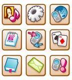 Icono móvil Fotografía de archivo libre de regalías