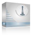 Icono móvil del antena ilustración del vector