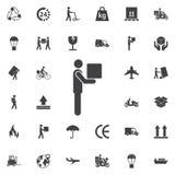 Icono móvil del pictograma de la caja del hombre libre illustration
