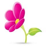 Icono magenta de la flor Imagen de archivo libre de regalías