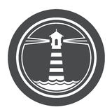Icono marítimo del faro Libre Illustration