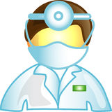 Icono masculino del doctor del veterinario Imagen de archivo libre de regalías