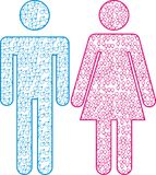 Icono masculino y femenino Foto de archivo