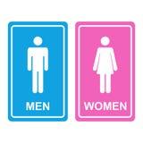Icono masculino y femenino del WC Fotografía de archivo libre de regalías