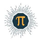 Icono matemático del pi plano Ilustración del vector libre illustration