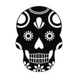 Icono mexicano del cráneo, estilo simple Imagen de archivo libre de regalías