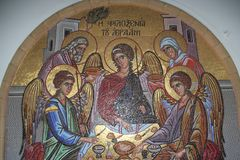 Icono, monasterio Chipre de Kykkos Imágenes de archivo libres de regalías